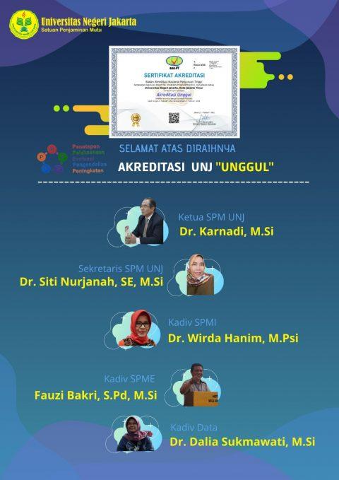 """Akreditasi Universitas Negeri Jakarta"""" UNGGUL"""""""