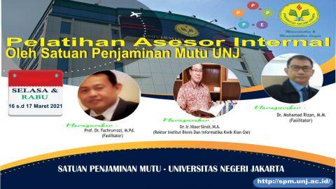 Pelatihan Asesor Internal oleh Satuan Penjaminan Mutu (SPM-UNJ)